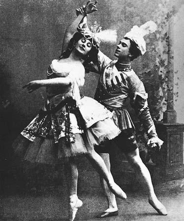 Anna Pavlova và Vaslav Nijinsky trong vở Ballets